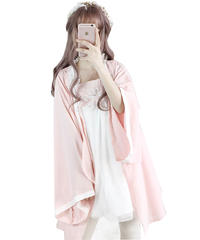 【d.Alice】ルームウェア ピンクワンピース×カーデ