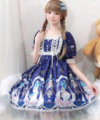 【d.Alice】パフスリーブワンピース 1014
