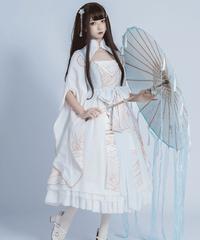 【d.Alice】チャイナホワイト ロングワンピース 1039