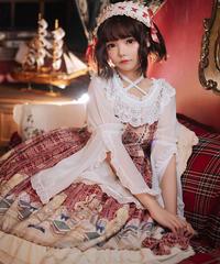 【d.Alice】赤チェックワンピース