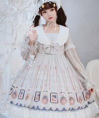 【d.Alice】オフホワイト フリル 1012