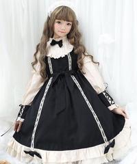 【d.Alice】クラシック蝶ネクタイワンピース 1055-BLK