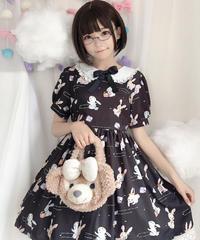 【d.Alice】黒うさちゃんワンピース(半袖)