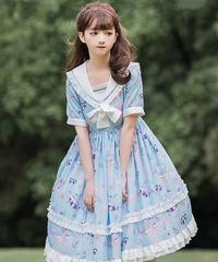 【d.Alice】ライトマリンワンピース 1028