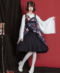 【d.Alice】和苺ワンピース 1042-BLK 1042-RED