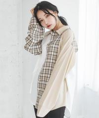 【UNISEX】パターンドッキングシャツ AG203SH0801
