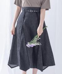 フリンジデニムスカート AG202SK0507