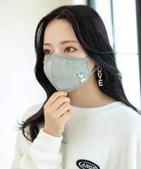 接触冷感フェネック刺繍マスク AG203BC0911