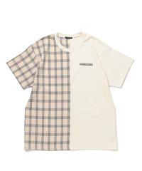 【UNISEX】チェックドッキングTシャツ AG202CS0427