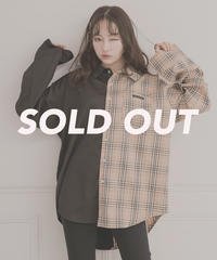 【UNISEX】バックプリントチェックシャツ AG201SH0101