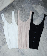 Front Button Tank Top