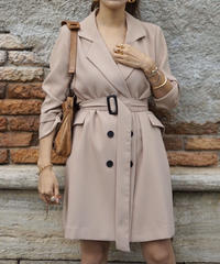 Belt Jacket One-piece