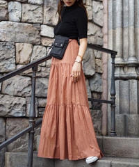 Volume Gather Long Skirt