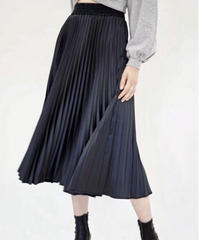 Satin Pleated Skirt
