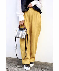 Suede Wide Pants