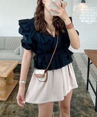 Tiered Frill Blouse