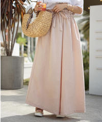 Ribbon Flare Wide Pants