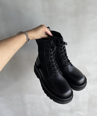 Knit Lace-up Boots