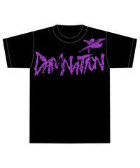 DAMNATION Tシャツ  (紫)