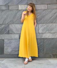 幸せの黄色いワンピース OPFL-12-DG ダブルガーゼ    Fサイズ