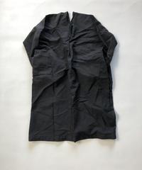 ポリエステル縮絨 Zip Onepiece  / Black