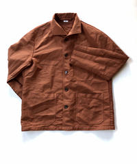 ポリエステル縮絨 GER P Jacket / Brown