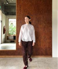 Cotton Stripe Standcollar Shirt
