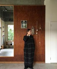 Wool Jacquard 縮絨 Kimono Onepiece