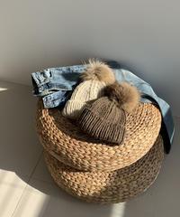 【SALE】knit beanie