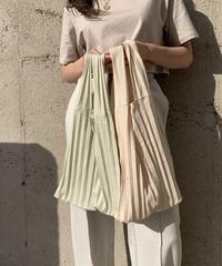 accordion knit bag