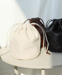 fake leather kinchaku bag