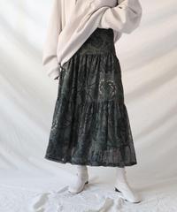 【在庫限り】paisley gather flare skirt