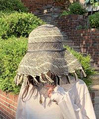 《即納》wide fringe hat