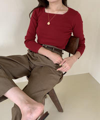 aw square neck knit