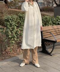 【SALE】long shirt op