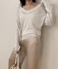 linen blend loose v knit