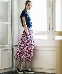 CUBE サイドギャザースカート