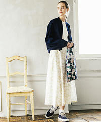 lace flower コットンカディスカート