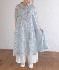stripe triangle ワンピース
