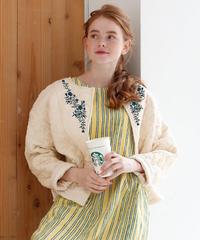 アリ刺繍キルティングジャケット