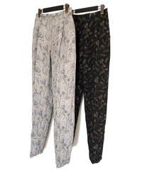P-01/02 Flower Jacquard Tuck Pants