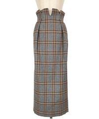 S-01/01 Wool Plaid Long Skirt