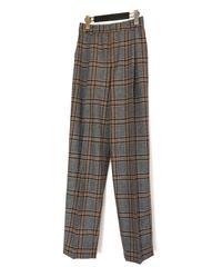 P-01/01 Wool Plaid Tuck Pants