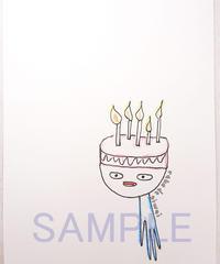 クリスマスカード ・バースディカード ワンホールケーキさん