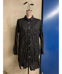 リネンブロードワークシャツ(ブラック)