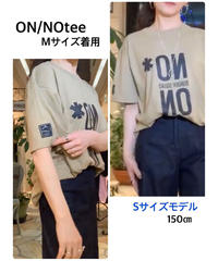 NO/ON Tee 【White・Beige】