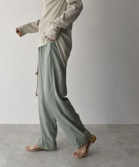 bottoms-02057 LOOSE WIDE EASY SATIN PANTS