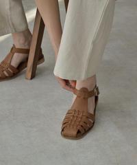 shoes-02125 ECO LEATHER GURKHA SANDALS