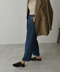 bottoms-02078  SEMI-WIDE STRAIGHT ANKLE PANTS