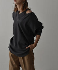 tops-04047  MADE IN JAPAN THERMAL TWIN PULLOVER